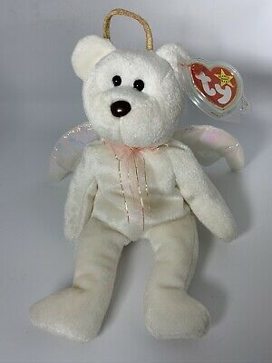 £100 • Buy TY Beanie Baby Halo The Bear 1998 5th Generation Swing Tag TWO RARE ERRORS
