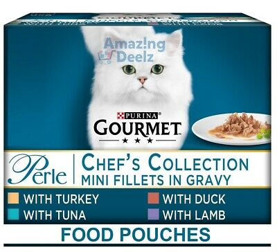 £11.99 • Buy Purina Gourmet Perle Adult Cat Food Pouches 12x85g, 60x85g (Chef's Collection)