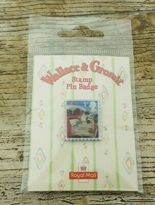 £0.99 • Buy Sealed 2010 Royal Mail Wallace & Gromit Pin Badge Of An Issued Postage Stamp
