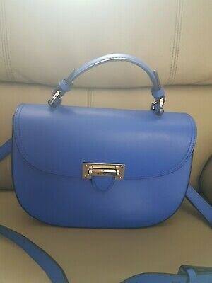 £140 • Buy Aspinal Of London Letterbox Saddle Bag In Blue. Excellent  Condition.