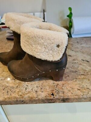 £28 • Buy UGG Linnea Clog Brown Boots Size 5 1/2