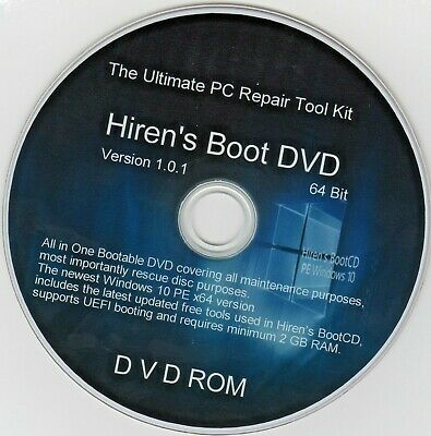 £2.99 • Buy Hiren's Boot Disc For Any Computer Recover Fix & Repair Windows 7 8 &10 CD/DVD