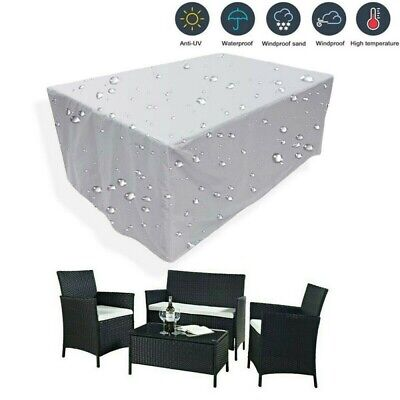 £7.99 • Buy Heavy Duty Waterproof PVC Garden Patio Furniture Cover For Rattan Table Cube NEW