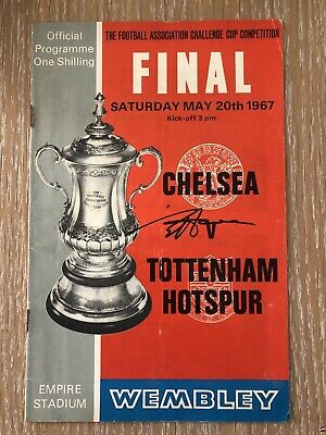 £10 • Buy 1967 FA Cup Final Programme Chelsea V Spurs Signed By Ron Chopper Harris