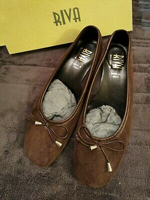 £19 • Buy Lovely RIVA ITALIAN Flats, Casual Ladies Shoes. Size 7.  Brown.  Brand NEW.