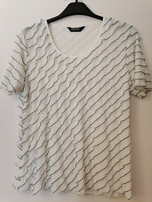 £5 • Buy Forever By Michael Gold Ladies Top With Flounces White Size XL