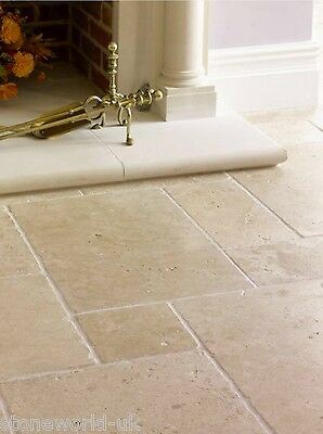 £20.95 • Buy Tumbled (Aged) Classic Travertine Opus Pattern Tiles - Natural Stone Flooring