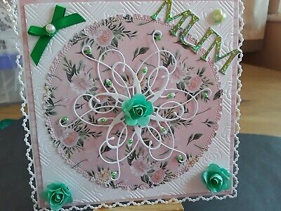 £2.49 • Buy Handmade Any Occasion Card Topper, Mothers Day, Birthday, Flowers, Sentiment.