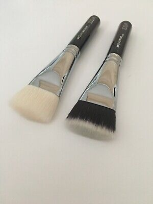 AU32.02 • Buy 2X Zoeva 109 Face Brushes Synthetic & Goat Hair With Pouch