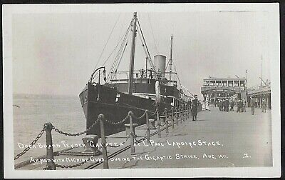 £0.99 • Buy Liverpool Strike, 1911,  Galatea , Armed With Machine Guns At Landing Stage, Rp.