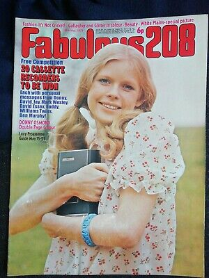 £7.99 • Buy Fab 208 May 19 1973  Donny Osmond Poster White Plains David Cassidy Osmonds