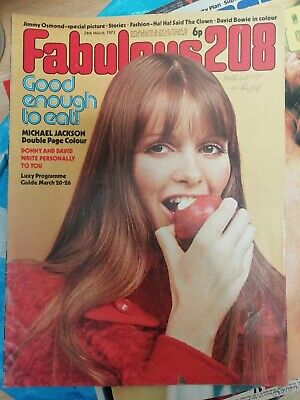 £5.99 • Buy Fab 208 March 24 1973  Michael Jackson Cover Jimmy Osmond