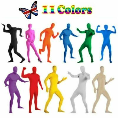 £9.99 • Buy Adults Kids Full Body Spandex Jumpsuit Party Costume Dress Invisible Morph Suit