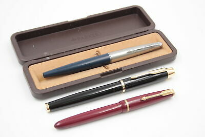 £1.20 • Buy 3 X Assorted Vintage PARKER Fountain Pens WRITING Inc Boxed, Slimfold, 45 Etc