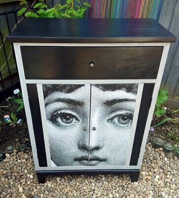 £75 • Buy Hand Painted Cabinet Inspired By Fornasetti.