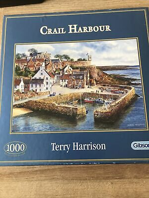 £1.60 • Buy 1000 Piece GIBSONS PUZZLE CRAIL HARBOUR BY TERRY HARRISON