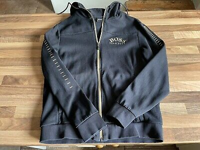 £74.99 • Buy HUGO BOSS Zip Up Hoodie - Black And Gold - Size S Small - Genuine