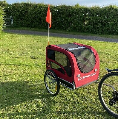 £45 • Buy Bike Trailer Dog Cargo Transport Bicycle Handcart Foldable Wagon Kid Carrier Red