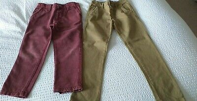 £6.50 • Buy Next Boys Chinos Age 4-5, & John Lewis Wine/Rust Colour Jeans Age 4