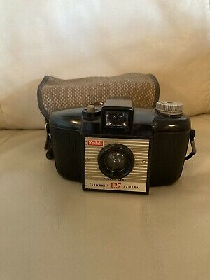 £6.99 • Buy Vintage Old Fashioned Kodak 127 Brownie Camera And Case