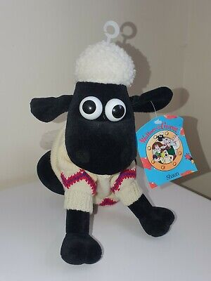 £9.99 • Buy VINTAGE Shaun The Sheep Soft  Plush Toy Teddy Wallace & Gromit With Tags 1989