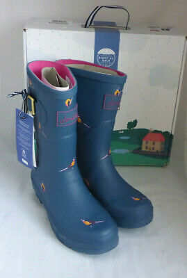 £41.99 • Buy Joules 209675 Molly Welly Teal Pheasant Mid Height Wellingtons Wellies Box Sz 3