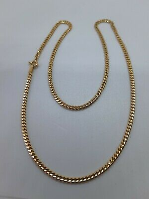 £165 • Buy 9ct Gold Cuban Link Chain Length 16 Inches Hallmarked