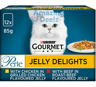 £10.29 • Buy 12x85g Purina Gourmet Perle Jelly Delights Wet Cat Food (Meat Selection)