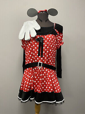 £15 • Buy Red & White Minnie Mouse Spotty Dress & Ears 18 - Cosplay Fancy Dress Costume