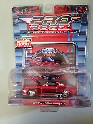 $9.99 • Buy Maisto '67 FORD MUSTANG GT  Red   1:64 Scale  Pro Rodz  Pro-Touring    ***NEW***