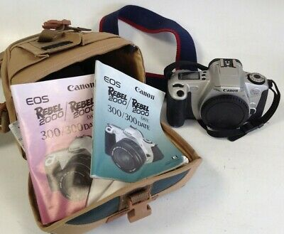 £6.29 • Buy Bundle Canon EOS 300 In Silver Camera Body Only With Manuals + Carry Case #798