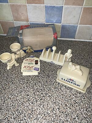 £29.99 • Buy Lurpack Collectables - Butter Dish, Egg Cups And Toast Holder (boxed)