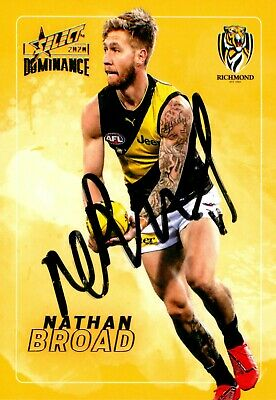 AU19.99 • Buy ✺Signed✺ 2020 RICHMOND TIGERS AFL Premiers Card NATHAN BROAD