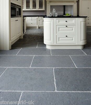£0.01 • Buy Tumbled Cathedral Ash Grey Limestone Floor Tiles Aged Flagstone Paving Slabs