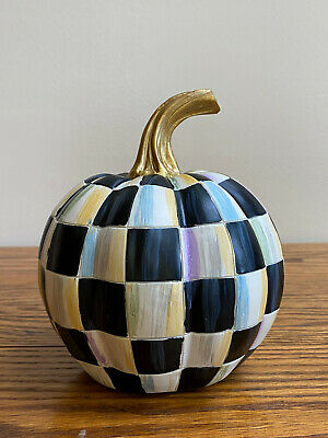 $49.99 • Buy MacKenzie-Childs COURTLY CHECK Small Decorative Pumpkin
