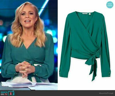 AU49 • Buy Country Road BNWOT Green Wrap Top Size 12