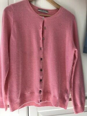 £17.55 • Buy Pure Cashmere Baby Pink Cardigan By M&S Size 14 New