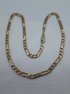 £450 • Buy 9ct Gold Curb/figaro Chain Length 19 Inches Hallmarked