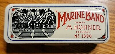$19.99 • Buy Marine Band Harmonica Made By M. Hohner Germany No. 1896 Key Of  B  W/Case
