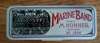 $19.99 • Buy Marine Band Harmonica Made By M. Hohner Germany No. 1896 Key Of  D  W/Case