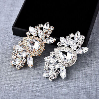 £6.80 • Buy 1Pc Rhinestones Crystal Women Shoes Clips DIY Shoe Charms Jewelry Shoes De  OR