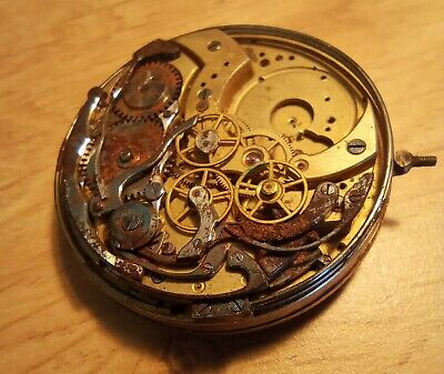 £80 • Buy Swiss Dunand Minute Repeater Pocket Watch Movement With Chronograph
