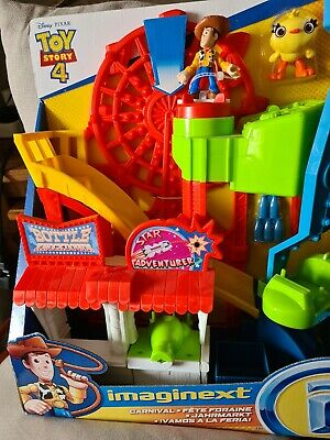 £5.75 • Buy Fisher-Price Toy Story 4 IMAGINEXT CARNIVAL Playset Toy Includes Woody Figure!