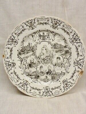 £4 • Buy Lovely Victorian Plate Queen Victoria Jubilee 1887 Pictorial Rare Unbranded