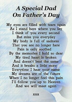 £2.99 • Buy A Special Dad On Father's Day Memorial Graveside Poem Card With Free Stake F178