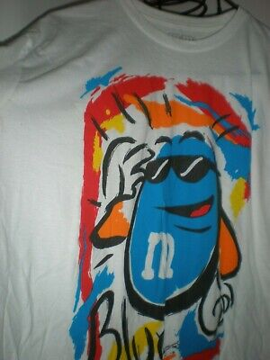 $25.99 • Buy Vintage Mars M&M's Candy T-Shirt Size Large M& M BRAND SUPER CUTE TEE WHITE