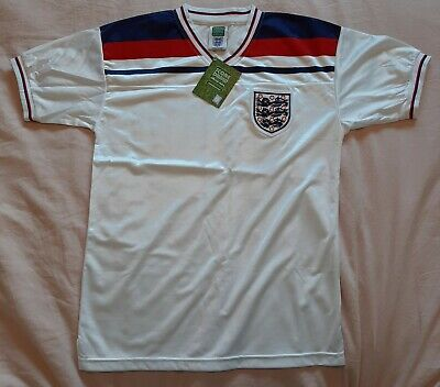 £43.75 • Buy ENGLAND 1982 World Cup Spain Home Shirt By Score Draw - Medium, #16 Robson - New