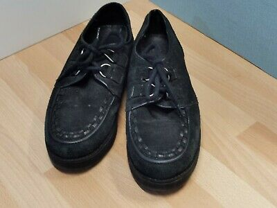£5.99 • Buy Bronx Black Creepers Moccasin Style Lace Up Comfy Shoes Size 40  Mod