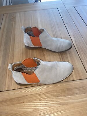 £5 • Buy Ankle Boots Size 6 Grey And Orange