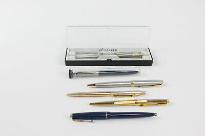 £0.99 • Buy 6 X Assorted PARKER Ballpoint Pens / Biros Inc Vintage, Rolled Gold, Boxed Etc